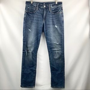 Gap Ripped Blue Jeans Men's Size 31x30